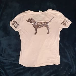 3/ $15 VS PiNK Sparkly Sequin Dog Top